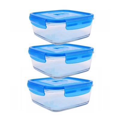 Hộp trữ thực phẩm thủy tinh Luminarc Pure vuông