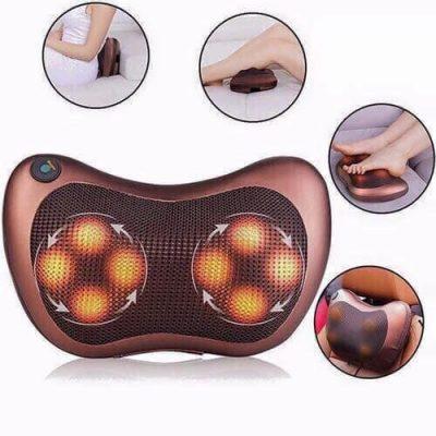 Gối massage hồng ngoại 8 bi xoay chuyển 360 độ