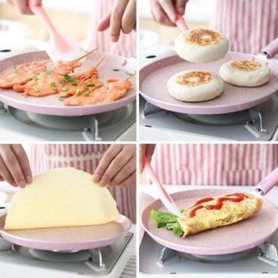 Chảo Làm Bánh Nhật Bản Hồng 20cm